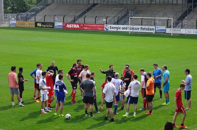 Champions League Finale im Karli: Lothar Matthäus zu Gast in Babelsberg