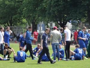 SVB U 19 Coach Matthias Rudolph war zufrieden mit seiner Mannschaft