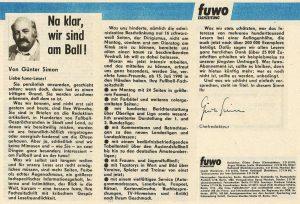Kommentar von Günter Simon in der fuwo Nr. 22/1990